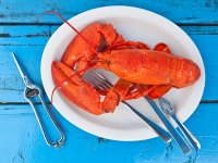 Lobster On Plate Fork Knife Tools