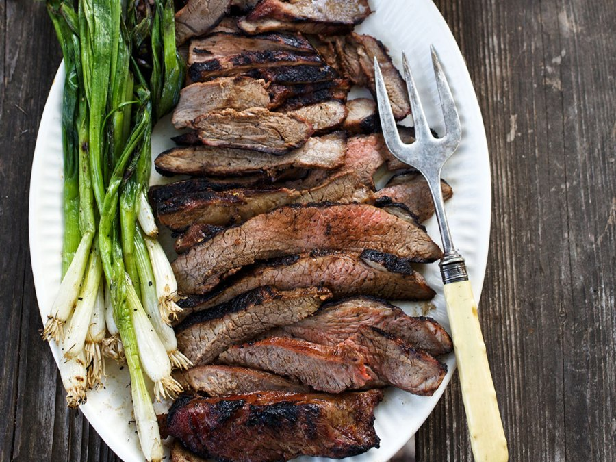 Sliced Grilled Pieces Butterflied Leg Of Lamb Plate