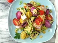 Grilled Greek Orzo Salad