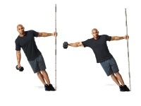 Leaning Dumbbell Lateral Raise