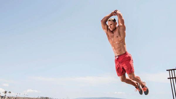 Beach Workout Leap Jump