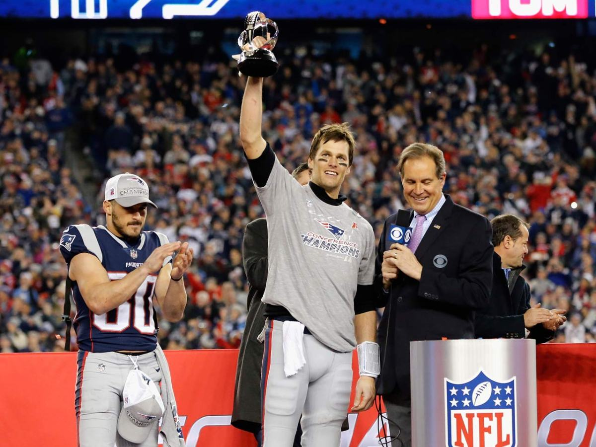 846125628 NFL Playoffs Super Bowl Preview for Patriots and Eagles