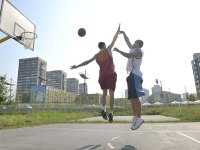 One On One Basketball Pickup Game