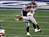 David Tyree of the New York Giants in Super Bowl 42