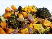 Chicken broccoli sweet potato bake