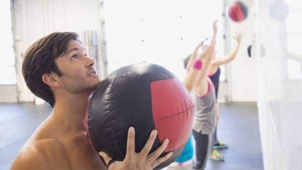 Wall Ball With Medicine Ball In Crossfit