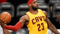 LeBron James Slams One-Handed, Superman-Like Alley-Oop Dunk After Blocking a Steph Curry Pass