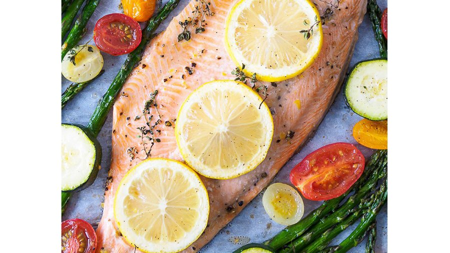Baked Rainbow Trout Fillet