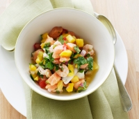 Lime and cilantro spicy ceviche