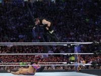 Kevin Owens Jumps From The Top Rope Onto Chris Jericho