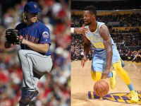 Noah Syndergaard and Julius Randle