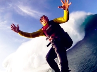 In November 2011 at Nazaré, Portugal, extreme waterman and ocean explorer Garrett McNamara managed to surf a mammoth 78-foot wave - the largest ever recorded ride in history.