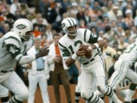 Joe Namath #12 of the New York Jets during Super Bowl III