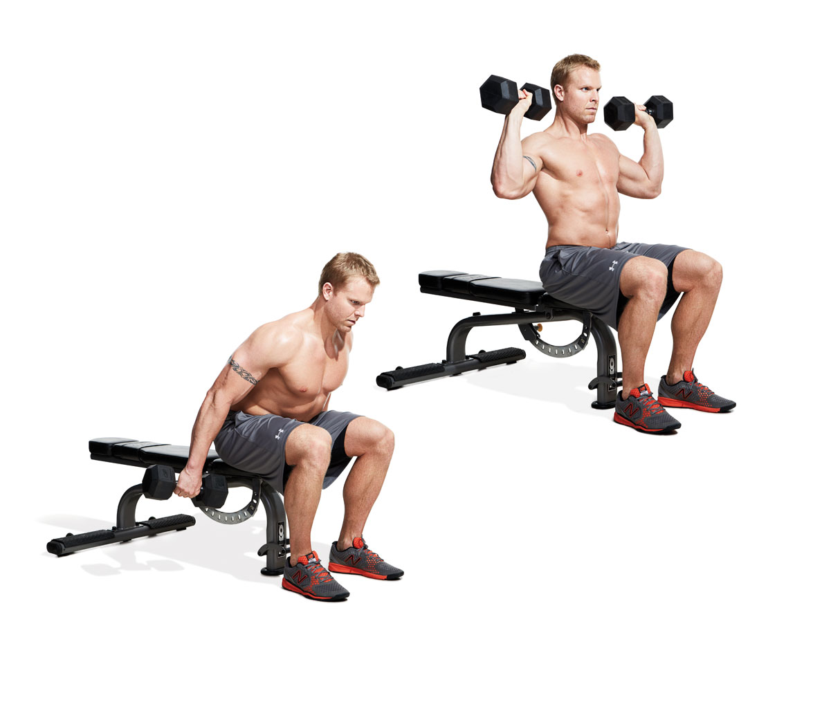 foto How to Do a Dumbbell Clean and Push Press