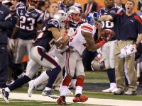 Wide receiver Mario Manningham #82 of the New York Giants during Super Bowl XLVI
