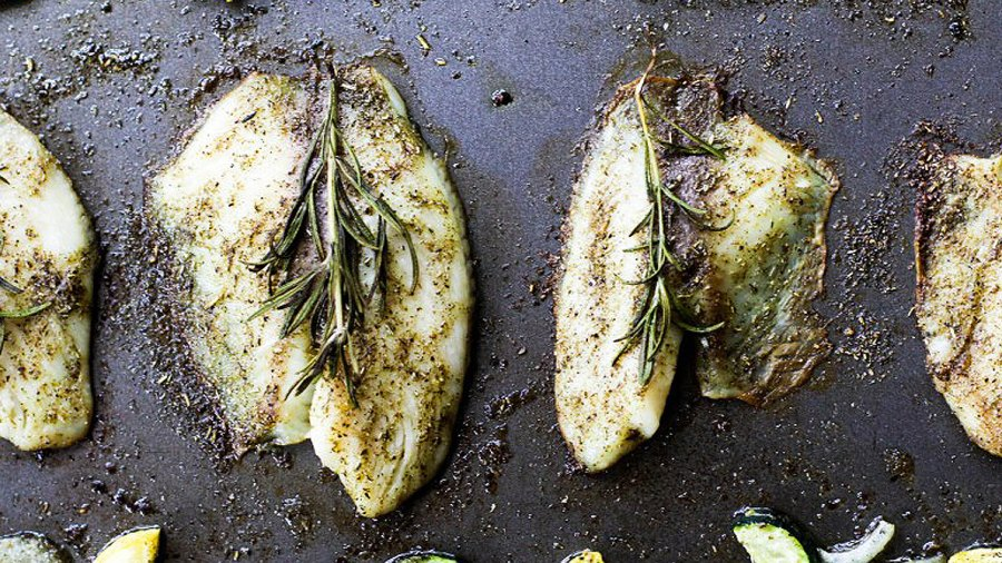 One-pan Herbed Tilapia and Squash