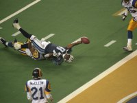St. Louis Rams Mike Jones tackled Tennessee Titans Kevin Dyson at Super Bowl XXXIV