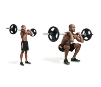 Not squatting with full range of motion