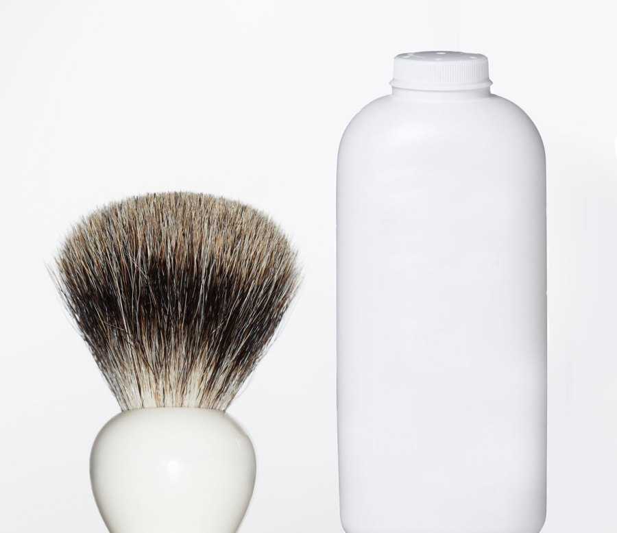 Cleaning Solution #3: Talcum Powder and a Dry Brush