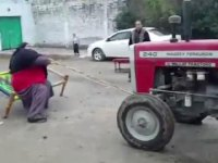 Watch: the Giant 'Pakistani Hulk' Heaves a Tractor Because He Can