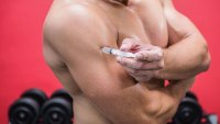 Bodybuilder blows up triceps by injecting coconut oil