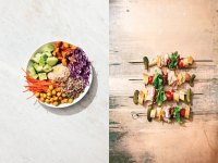 Bowls (left) had their fun in 2016 — but food on a stick is the trend for 2017. Photo: Christopher Testani
