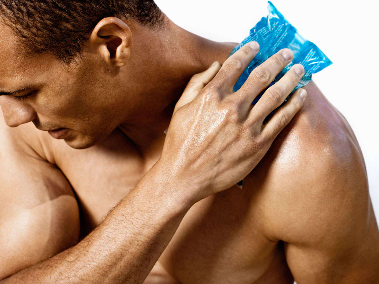 Muscle males homemade love juice in throat