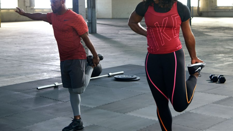 Kevin Hart and Serena Williams Duke It Out in New Nike+ Training Club Workout