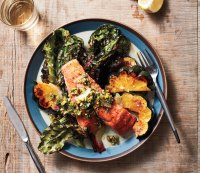 Salmon with greens