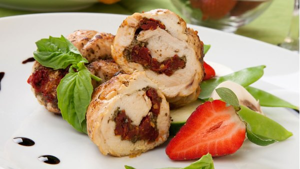 Chicken Breast with Flax and Herb Stuffing