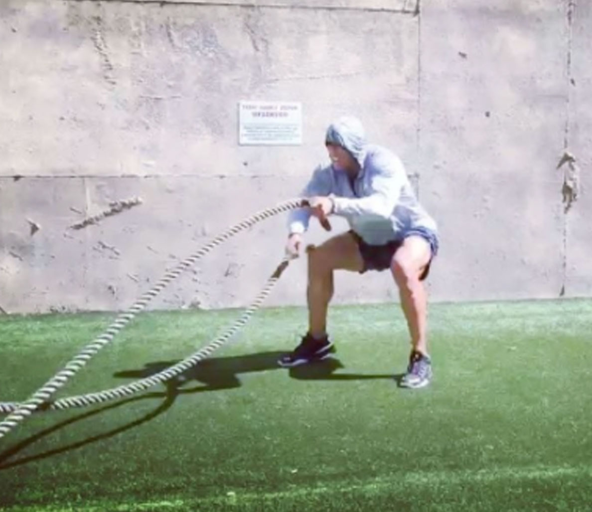 How to Finish Off an Intense Battle Ropes Training Session Like Dwayne Johnson