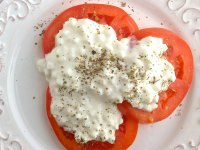 Smoky Tomatoes With Cottage Cheese