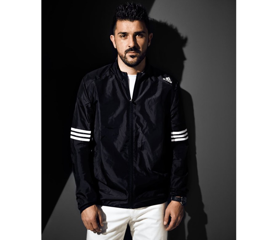 David Villa Shows You How to Rock the Latest Athletic-Inspired Outerwear