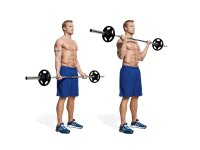 Wide Grip Barbell Curl