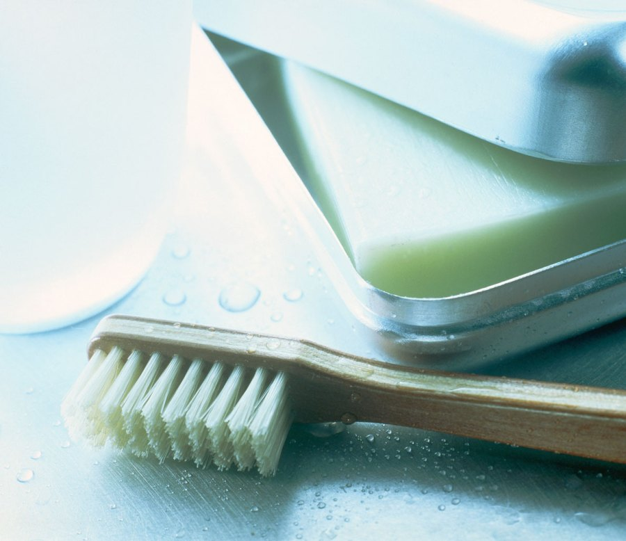Cleaning Solution #1: Toothbrush and Soap