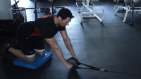 Fitness on the Fly: Ab Wheel With Cable Pulley