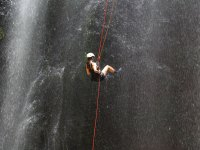 Abseiling Errard Waterfall in St. Lucia