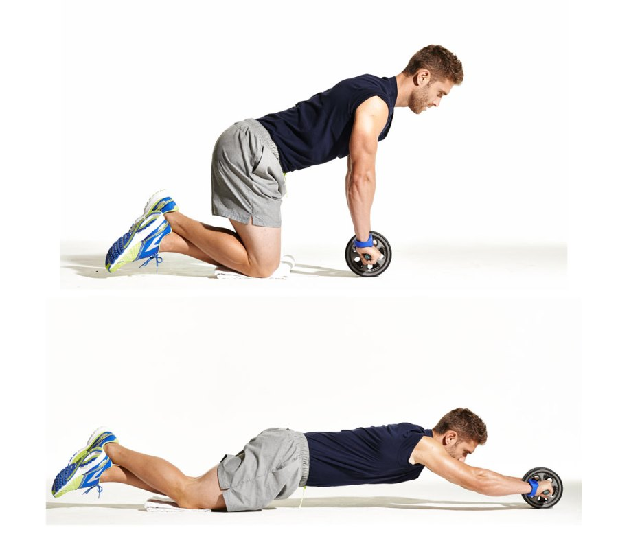 Side-to-Side Ab Wheel Rollout