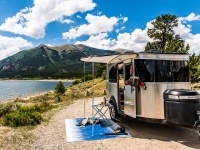 Airstream Basecamp Trailer In the Mountains