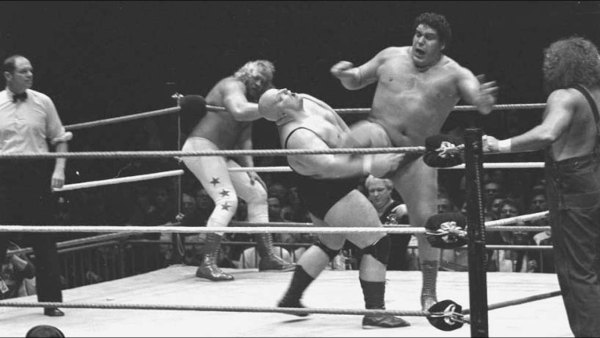Andre the Giant faces off against King Kong Bundy. Creative Commons photo via flickr/ekavet
