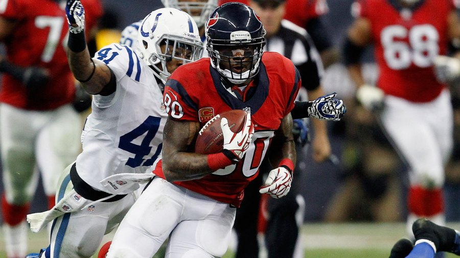 Andre Johnson of the Houston Texans against the Colts