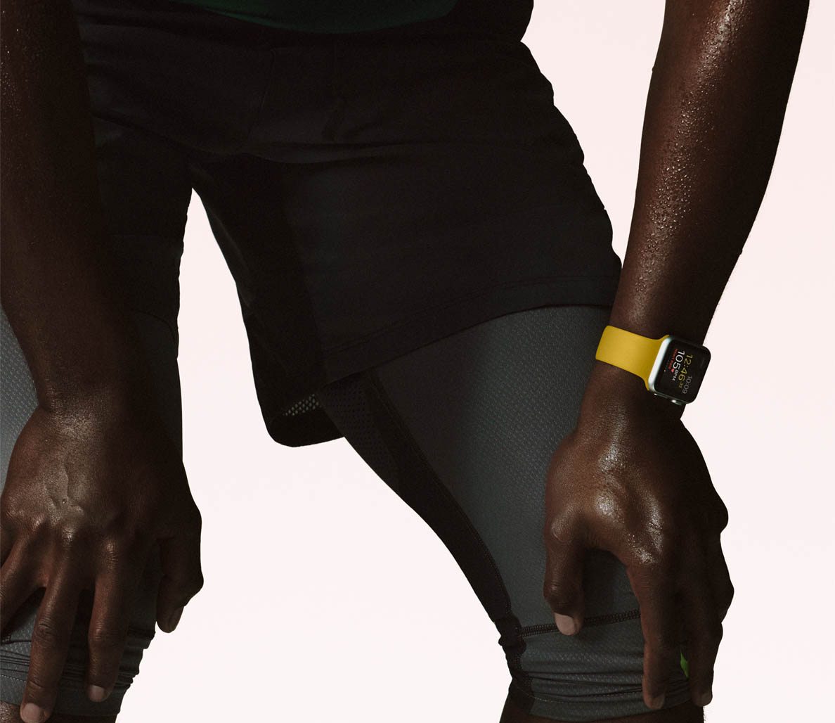 Apple's new nylon band for the Apple Watch.