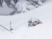 Person Stuck in Avalanche Snow