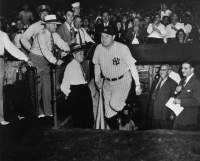 Babe Ruth and Second Base, and his Bats, and Women's Clothes