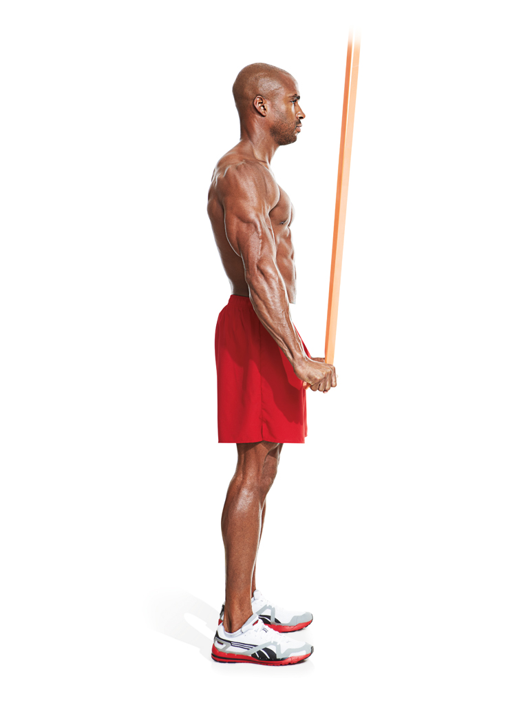 How to build bigger triceps with band triceps extensions.