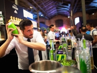 A Bartender Shakes A Cocktail