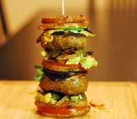 11. Stacked lamb sliders with sweet potato 'buns'