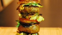 Stacked Lamb Sliders With Sweet Potato 'buns'