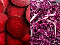 Beets or red cabbage