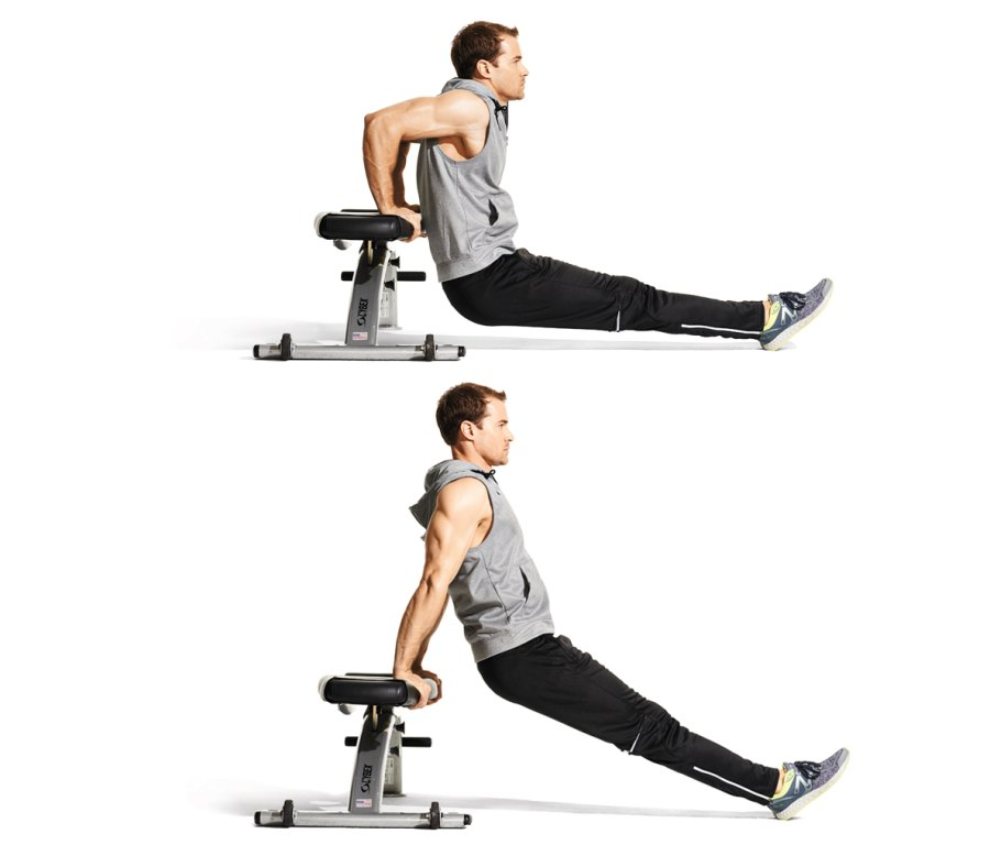 Triceps Exercise 1: Weighted Bench Dip